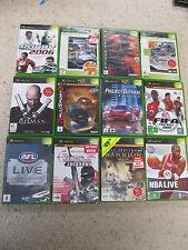 12 XBox Games, Dessert Storm, spiderman 2, Project Gotham racing, AFL live etc