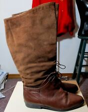 Women's SAVIDA Brown Leather Boots Size 8.5