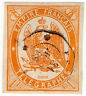 (I.B-CK) France Telegraphs : 1Fr Dull Orange (1868)