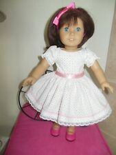 "18"" doll clothes handmade by Judy fit American Girl type dolls Dress Spring Dot"