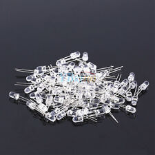 100Pcs X 5mm White Ultra-Bright LED Wide Angle Light Lamp Bulb Emitting Diodes