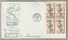 "Ersttagsbrief FDC USA ""100th Anniversary City Mail Delivery"" 1963 Marken"