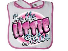 I'm The Little Sister With PiNK RABBIT SKINS Snap BIB