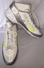NEW Mens NIKE Air Zoom SuperBad 3 White Silver Molded Lacrosse Football Cleats16