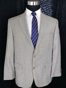 Hart Schaffner Marx Mens Sport Coat Blazer Wool 2 Button Sport Jacket Size 42S