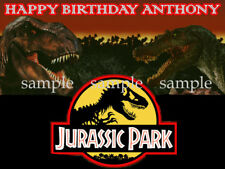 DINOSAURS Jurassic Edible CAKE Topper ICING Image Decoration Personalized