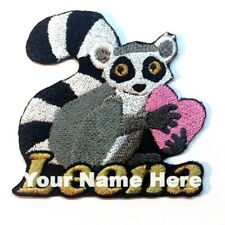 Lemur Custom Iron-on Patch With Name Personalized Free