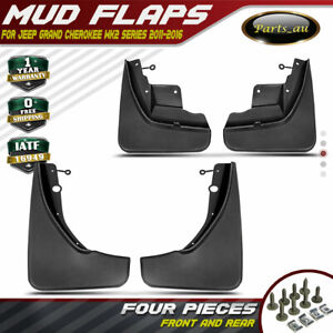 Set of 4 Mud Flaps Splash Guards Mudflaps for Jeep Grand Cherokee WK2 2011-2016