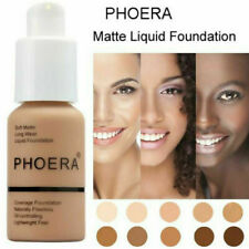 Beauty PHOERA Matte Full Coverage Liquid Foundation Conceale Powder Face Cream