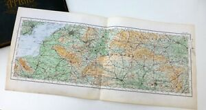 WEST OF ENGLAND - WILTSHIRE & SOMERSET -  Antique Cloth-backed O.S. Map, 1922.