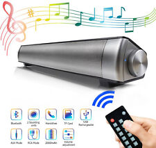 Portable Soundbar for TV/PC, Wired & Wireless Bluetooth Speaker Remote Control