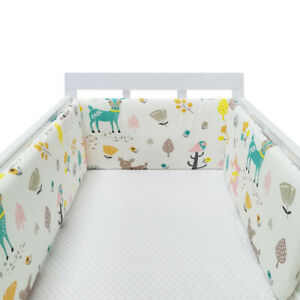 Breathable Baby Crib Bumper Mesh for Cradle newborn Crib Pads Thick