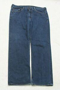 "Banana Republic Blue Denim Jeans Solid Cotton Mans Mens Zipper Fly 38"" x 32"" J69"