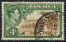 Jamaica 1938-52 SG#127, 4d Citrus Grove KGVI Used Half Way Tree Pmk #D15076