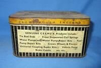 Vintage Old Rare Collectible Ceemax Automotive Product Ad Litho Tin Box England