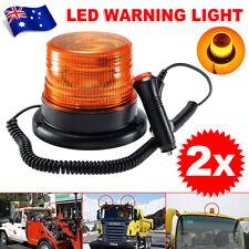 2x LED Amber 12V-24V Warning Light Emergency Flashing Car Round Strobe Beacon
