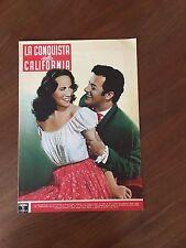 BROCHURE,La conquista della California California Conquest,Cornel Wilde,WESTERN
