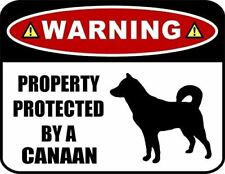 Warning Property Protected by a Canaan (Silhouette) Laminated Dog Sign