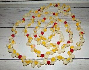 Vintage Plastic Popcorn & Cranberries Christmas Tree Garland