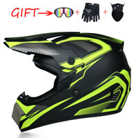 Motorcycle Motocross Helmet Extreme Sports Off Road ATV Dirt Bike + Free Gift