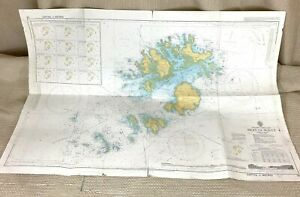 1984 Vintage Maritime Map The Isles of Scilly Tresco St Martin's St Mary's Sound