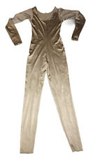 Vintage Gold Long Sleeve Full Body Catsuit By Only Hearts Helena Stuart Size M