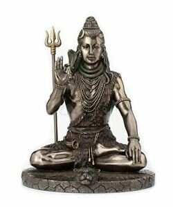 Lord Shiva Statue - 10 inch high -  Hindu Deity GIFT BOXED - Mint