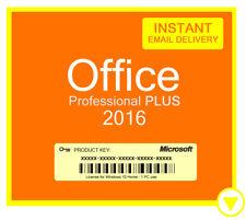 Microsoft Office 2016 Pro Professional Plus License Key 32/64Bit