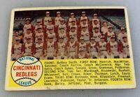 1958 Topps # 428 Cincinnati Redlegs Team Baseball Card Checklist Reds Red Legs