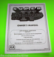 SUPER MEGATOUCH IV By MERIT 1996 ORIGINAL VIDEO ARCADE GAME SERVICE MANUAL