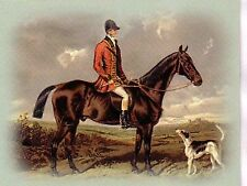 Grant sketch of Hunter limited edition Trading Card from Book of the Horse 1874