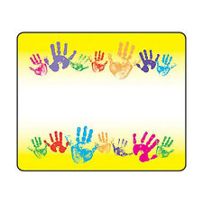 36 Rainbow Handprints Name Tag Stickers - School, Labels, Party