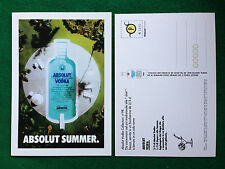 Pubblicità Advertising Cartolina vodka (Italy) ABSOLUT SUMMER n 98/1270