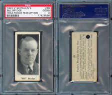 1923 V128 PAULIN'S CANDY #19 BILL BRYDGE PSA 2 (558)