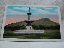 HONOLULU HI Hawaii Japanese Fountain &n Diamond Head early 19000's Postcard