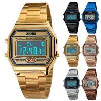 SKMEI Outdoor Sports Watch Waterproof Digital Stainless Steel Band Wristwatch
