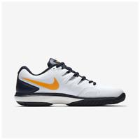 Nike Air Zoom Prestige HC Men's Tennis Shoes White Orange Peel