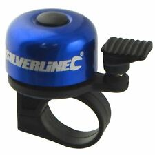 Blue Aluminium Capped Bicycle Bell Ding Bike Accessory Handle bar Lever Action