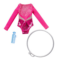 Barbie Clothes: Career Outfit for Barbie Doll, Gymnast Leotard with Hoop and Wat