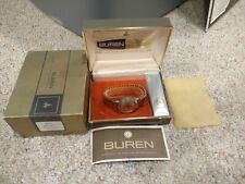 Vintage Buren Electric Watch 1960's in original box BN-74