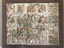 Harmony Kingdom Noah's Park complete 20 tiles box set with frame