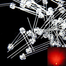 New 100 pcs 5mm Straw hat Red LED Wide Angle Light lamp Free Shipping