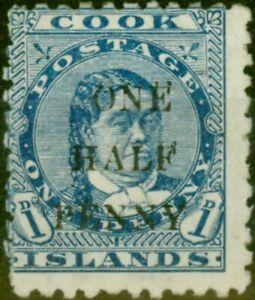 Cook Islands 1899 1/2d on 1d Blue SG21 Fine Mounted Mint