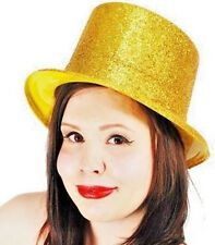 12 Gold Glitter Topper Hats Christmas New Year Parties Stage Theatre Production