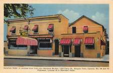 NIAGARA FALLS ONTARIO CANADA~VENETIAN HOTEL ON FERRY STREET POSTCARD 1940s