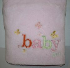 """Northpoint BABY GIRL Butterfies Flower Soft Pink Fleece Blanket 30""""x40"""" RN111943"""