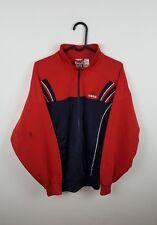 Homme Vintage Rétro Urban Athletic Sports Rouge Adidas zippée Survêtement Haut Veste S/M
