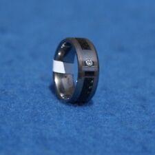 NWT TUNGSTEN w/.05ct White Diamond 8mm Wedding Ring 10g Size 10