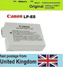 Genuina Original BATERÍA CANON LP-E8 EOS 550D 600D 650D 700D Kiss X4 X5 X6