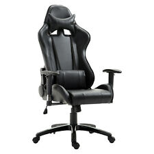 Gaming Office Chair Racecar Styled Seat Adjustable Swivel Home Office Black